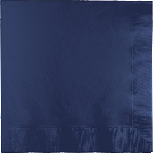 Creative Converting Paper Napkins, 3-Ply Dinner Size, Navy Color, 25-Count Packages (Pack of 5)