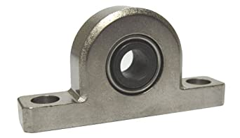 Spyraflo PB2-625-AF Aluminum Pillow-Block With a 5/8 inch Inner-Diameter, Self-Aligning, Delrin-AF Bearing