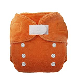 Thirsties Duo Fab Fitted Cloth Diapers, Mango, Size One (6-18 lbs)
