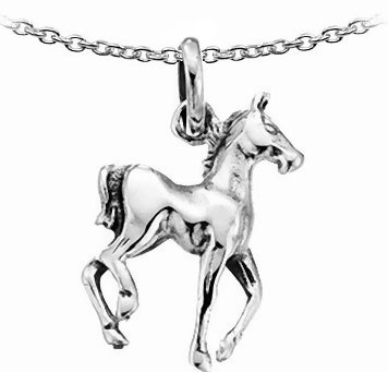 Childrens Silver Horse Pendant