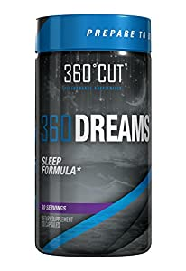 360CUT 360Dreams Natural Calming Sleep Formula, Promotes Relaxation and Relieves Nervous Tension, 120 Count