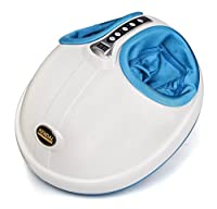 Kendal Foot Massager with Heat Kneading Shiatsu Rolling 3-D Air pressure massage 866-blue