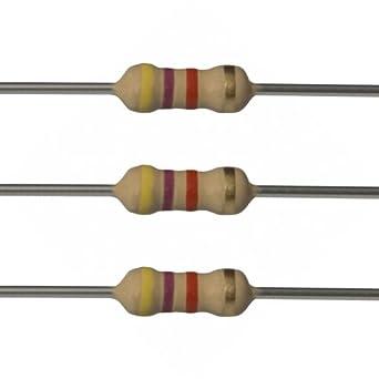E Projects 4 7k Ohm Resistors 1 4 Watt 5 4k7 25 Pieces Fixed Resistors Amazon Com