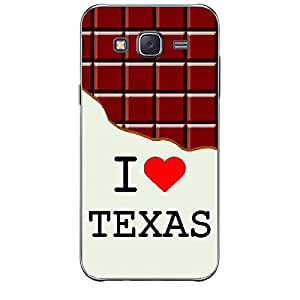 Skin4gadgets I love Texas - Chocolate Pattern Phone Skin for SAMSUNG GALAXY J2