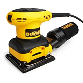 Factory-Reconditioned DEWALT D26441KR Heavy-Duty 2.4 Amp 1/4 Sheet Palm Grip Sander with Cloth Dust Bag