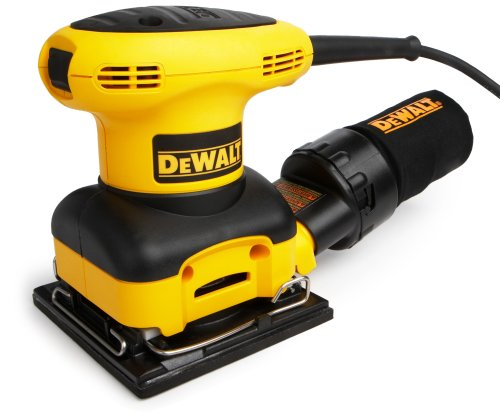 DEWALT D26441K 2.4-AMP Heavy-Duty Orbital 1/4-Sheet Sander with Cloth Dust Bag