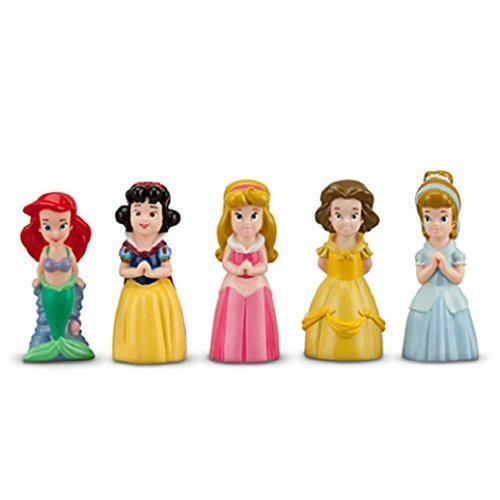 Disney Parks Princess Bath Pool Squeak Toys Set Including Ariel, Belle, Aurora, Cinderella, and Snow White by Disney
