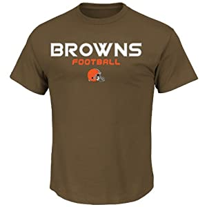 NFL Cleveland Browns Men's Line of Scrimmage VI Short Sleeve Tee, Classic Brown, Large