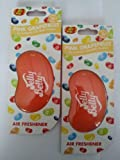2 x Jelly Belly 15214 3D Jelly Bean Air Freshener -PINK GRAPEFRUIT