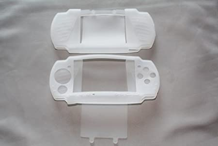 PSP 3000 Silicone Skin Case with LCD Screen Protector - Clear (2 Pack)