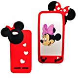 Disney Minnie Mouse Hide and Seek Silicone Case for iPhone 5/5G (Red)