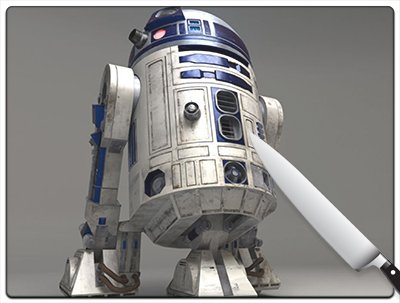 Star Wars R2D2 Little Buddy Large Cutting Board