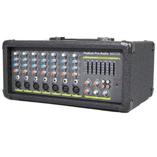 New 7 Channel Pro Audio Powered 300 Watt Bi-Amped