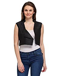 Just Wow Sleeveless Solid Women's Jacket