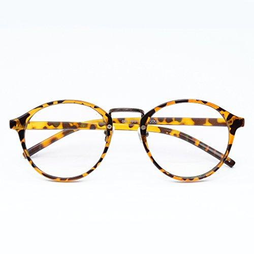 [リベルタ]LIBERTA べっ甲 ヒョウ柄 伊達 ダテ 眼鏡 メガネ レンズ レディース メンズ ユニセックス
