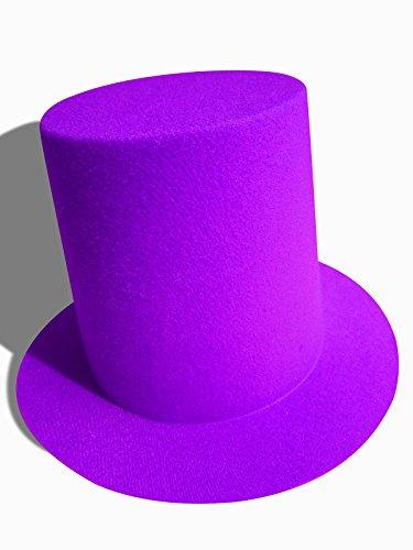 [Mini Top Tall Hat Fascinator Base Alligator Clips A006 (Purple)] (Mini Top Hats)
