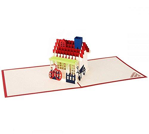 zum einzug klappkarte 3d pop up karte. Black Bedroom Furniture Sets. Home Design Ideas