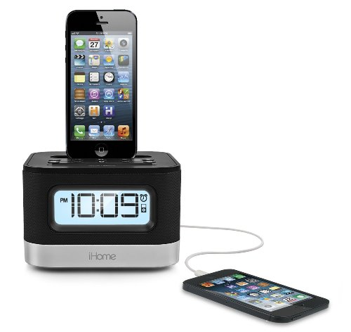iHome iPL10 Dual Charging Stereo FM Clock Radio with Lightning Dock For iPhone 5/5S 6/6Plus