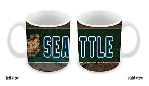 BleuReign(TM) Hashtag Seattle #Seattle Baseball Team 11oz Ceramic Coffee Mug