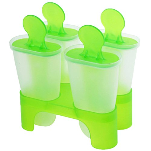 Moule Glacee - TOOGOO(R)Moule a Creme Glacee/a Sucette Glacee avec 4 Cases, Couleur Aleatoire