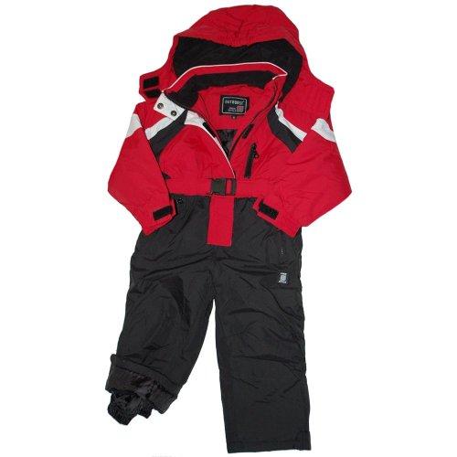 Outburst - ski-overall, girls, red