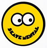 Skate Mental Smiley Face Skateboard Sticker