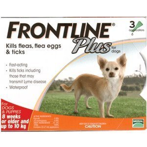 Frontline Plus for Small Dogs up to 10kg (0-22