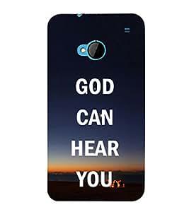 EPICCASE God hears you Mobile Back Case Cover For HTC One M7 (Designer Case)