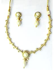 RCJ Gold Brass Necklace Set For Women - B00XN84VR4