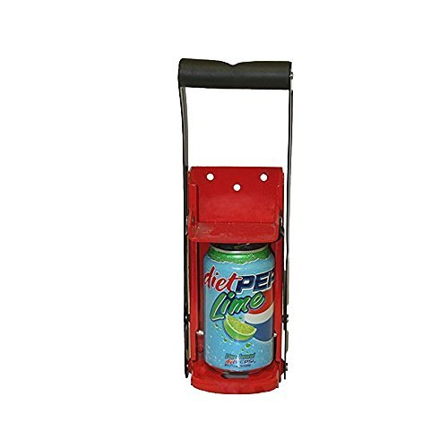 Grip Can Crusher - All-Steel, Model# 55200 (red) (Steel Can Crusher compare prices)