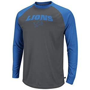 NFL Detroit Lions Go Long II Thermal Long Sleeve Performance T-Shirt - Gray by Reebok