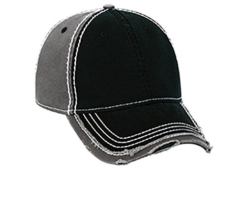 Hats & Caps Shop Vintage Washed Cn Twill Distressed Binding Trim Visor w/ Heavy Stitching Low Profile Pro Style - By TheTargetBuys