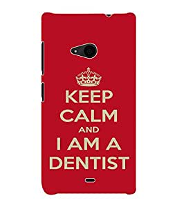 Fuson 3D Printed Dentist Wallpaper Designer Back Case Cover for Microsoft Lumia 535 - D673
