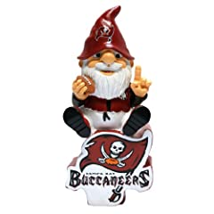 Tampa Bay Buccaneers Forever Collectibles Gnome Sitting on Logo by Forever Collectibles