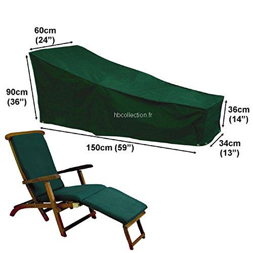 Deluxe Polyester Schutzhülle Schutz-Plane für Gartenliege Liegestuhl 150cm