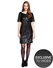 Limited Edition Sequin Embellished Shift Dress