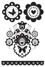 Kaisercraft Hippy Girl Clear Stamps, 4-Inch by 6-Inch, Contains 5 Sheets