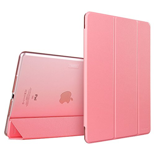 iPad mini 4 Case, ESR Smart Case Cover [Synthetic Leather] Translucent Frosted Back Magnetic Cover with Auto Sleep/Wake Function [Ultra Slim][Light Weight] (Sweet Pink) (Ipad Mini Smart Case Leather compare prices)