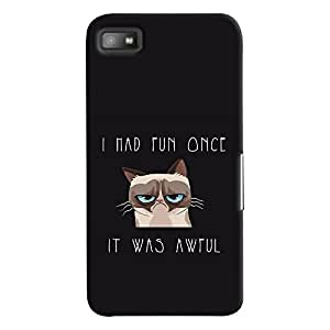 ColourCrust Blackberry Z1O Mobile Phone Back Cover With Quirky Style - Durable Matte Finish Hard Plastic Slim Case