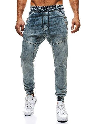 OZONEE Pantaloni da uomo Pantaloni Jeans Pantaloni Sport Jogging Jeans skinny Jogger ATHLETIC 425 - cotone, Jeans brillante, 2% spandex.\n\t\t\t\t 98% cotone 2% elastam, Uomo, L