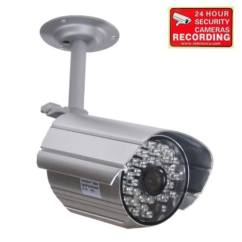 Review VideoSecu Day Night Infrared Audio Security Camera Built-in Microphone for CCTV Home Surveill...