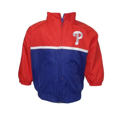 MLB Philadelphia Phillies Baby / Infant Athletic Zip-Up Coat / Jacket with Embroidered Logo - Red & Blue (Size: 12) at Amazon.com