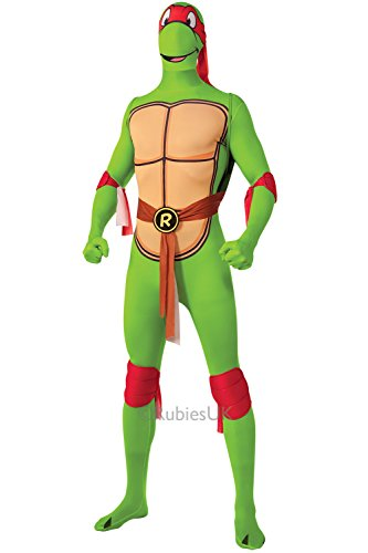 Teenage Mutant Ninja Turtles Raphael Adults Fancy Dress Costume Rubies 2nd Skin