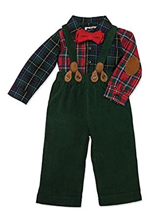 mud pie baby boys infant plaid pant set clothing