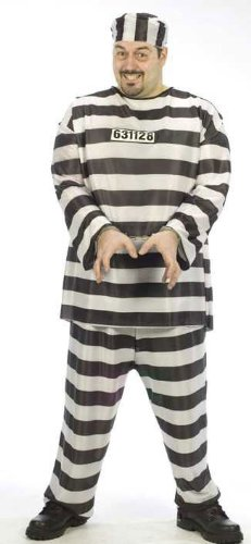 Jailbird Halloween Costume Men's Plus Size