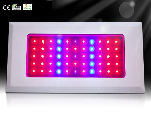 Goledgo Red/Blue 120W (55*3W 165W Max)Smart Led Plant Grow Light Panel 8:1 Ac85-265V Ship From Factory 4-6Days Arrive You Via Dhl