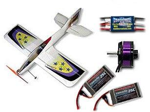 SX3 Pre-Built EPP 3D Aerobatic RC Airplane Incl Motor, ESC, Servos, Li Polys & More