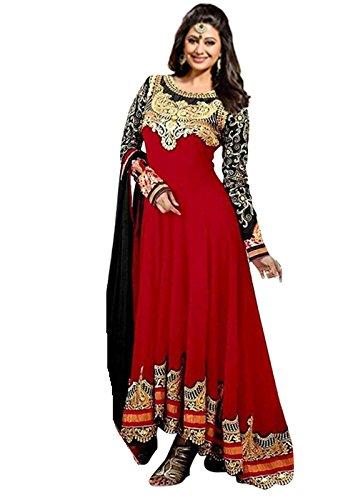 Shree-Khodal-Womens-Red-Geogette-Indo-Western-Long-Cholis-13-Red-NaazOldA51