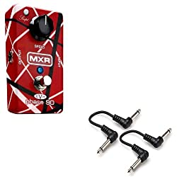 "MXR EVH 90 Eddie Van Halen Phase 90 Guitar Effect Pedal with 2 FREE 6"" Cables by MXR"