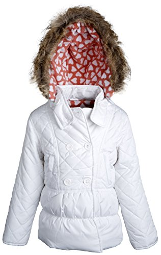 Dollhouse Baby Girls Down Alternative Quilted Winter Coat with Removable Hood